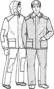 ГОСТ 12.4.111-82 «ССБТ. Костюмы мужские для защиты от нефти и нефтепродуктов. Технические условия». тип А, Б