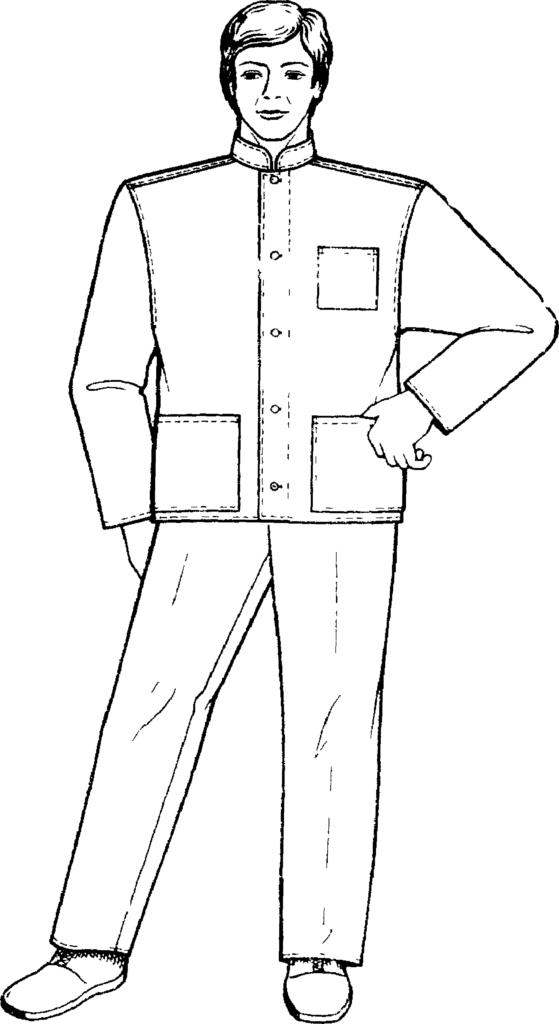 ГОСТ 9897-88 «Комплект мужской санитарной одежды. Технические условия»